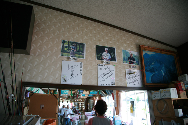 釣りのプロたちのサイン