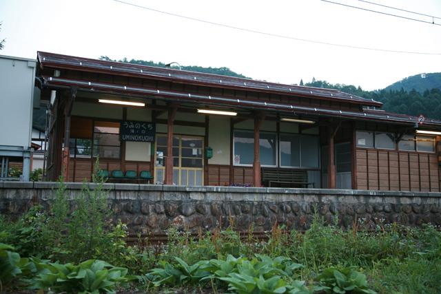 夕暮れ時の海ノ口駅